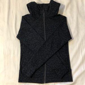 Lululemon black and grey leopard jacket